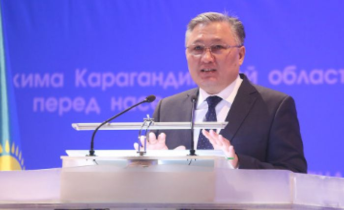 Karaganda region governor thanks foreign investors in English (VIDEO)