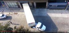 Ultimate Precision: Fedex truck amazing reverse parking