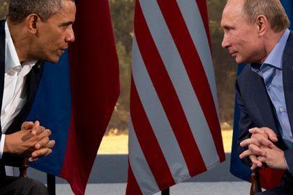 Барак Обама мен Владимир Путин. Фотосурет: Evan Vucci / AP