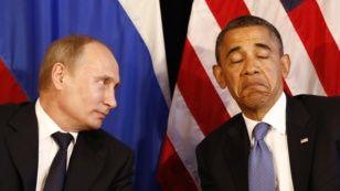 АҚШ президенті Барак Обама мен Ресей президенті Владимир Путин. Мексика, 18 маусым 2012 жыл. (Көрнекі сурет)
