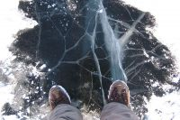 Мұз астына түскен баланы құтқарып қалды