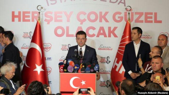 Стамбул мэрін қайта сайлауда да оппозиция кандидаты жеңді