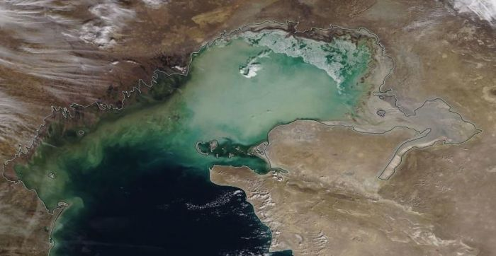 Каспий тартылып барады