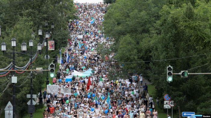 Фургал ісі: Хабаровскіде қала тарихындағы ең ірі наразылық акциясы өтті