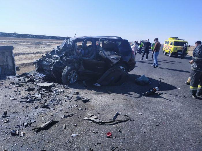 Атырау-Ақтөбе тас жолындағы жан түршігерлік апат: 9 адам қаза болды