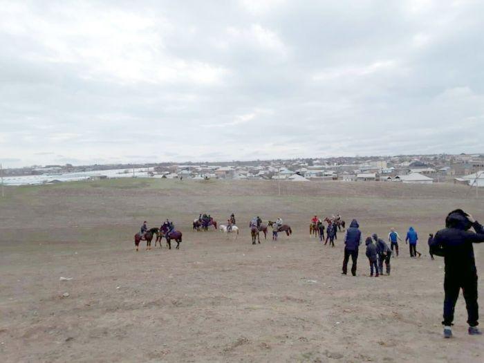 Түркістан облысында көкпарға 70-тен астам адам жиналған