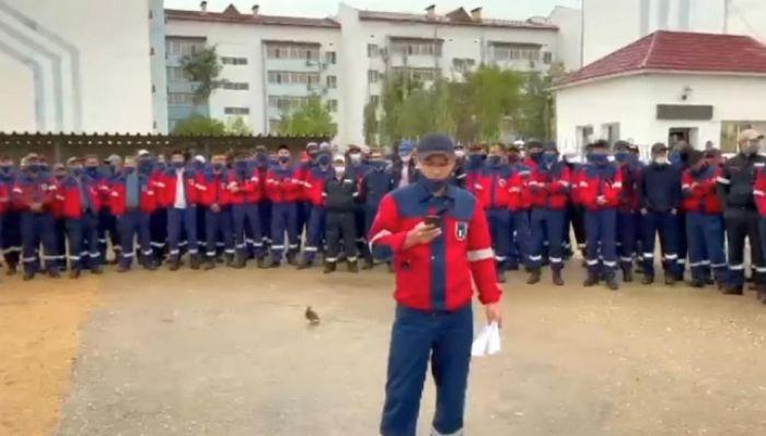 Қаражанбаста мұнайшылар жұмысқа шықпай қалды