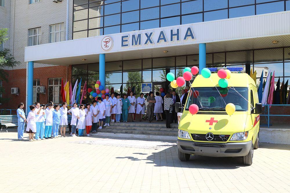 В Атырауской области 25 июня компания Норт Каспиан Оперейтинг Компани Н.В.  (НКОК) передала в дар Макатской центральной районной больнице новый  реанимобиль ... a1cd4937304