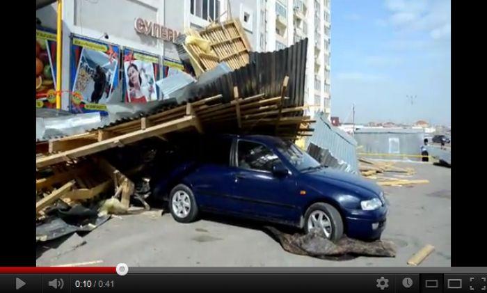 Последствия шквального ветра в Атырау. 02.05.12.