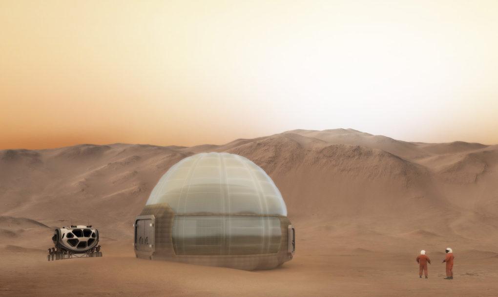 Фото зданий на марсе