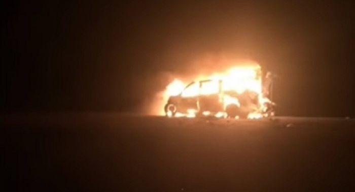 Шесть граждан Узбекистана сгорели в машине в Мангистауской области
