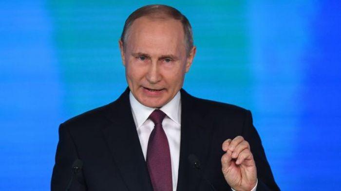 Модель атаки на США во время выступления Путина возмутила Госдеп