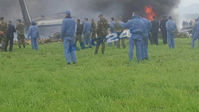Около 200 человек погибло при крушении военного Ил-76 в Алжире
