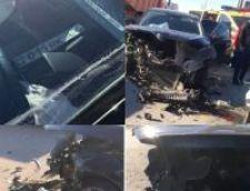 Столкнулись акиматовская Skoda Octavia и Toyota RAV 4