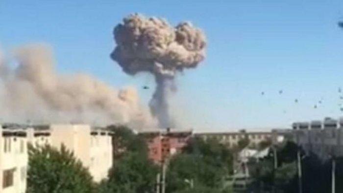 Взрыв произошёл на терроритории воинской части в Туркестанской области