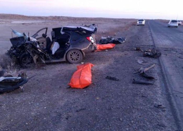 В ДТП на трассе Кульсары – Тенгиз погибли пять человек