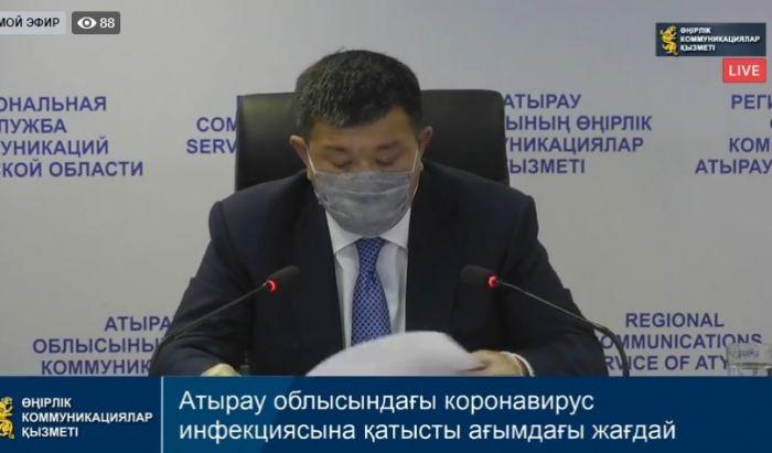 Брифинг: Атырау облысындағы коронавирус инфекциясына қатысты ағымдағы жағдай