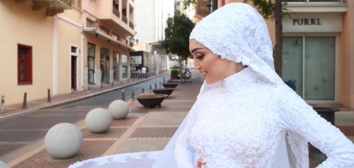 Взрыв в Бейруте прервал съемку свадебного видео невесты