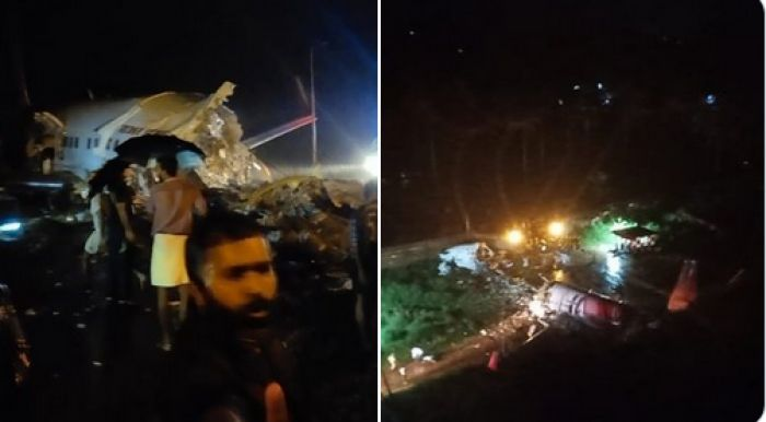 В Индии самолет развалился на части после посадки. Есть погибшие