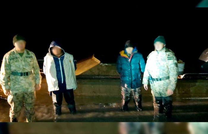 Пограничники поймали браконьеров с 245 килограммами осетровых