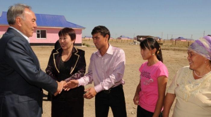 Назарбаев посетил Западно-Казахстанскую область