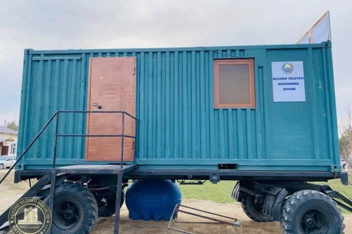 Ближе к народу: акимы Узбекистана переезжают в контейнеры на колесах