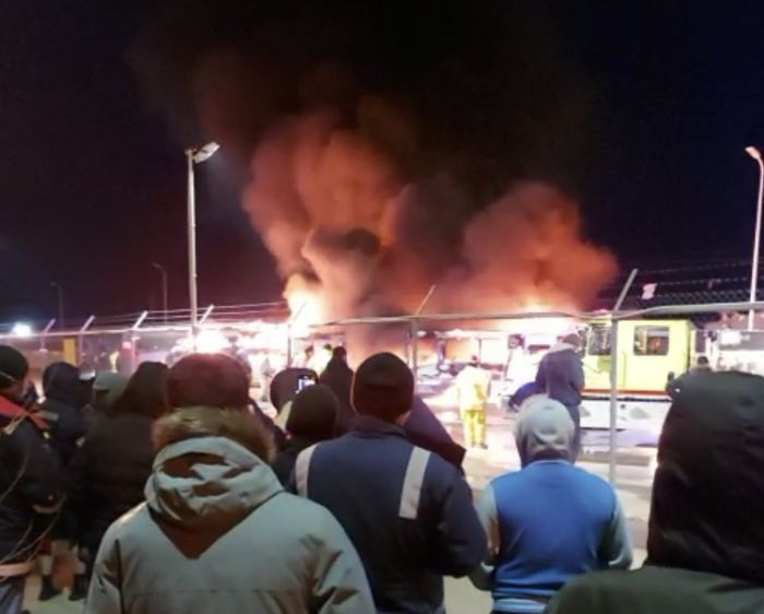 На Тенгизе сгорели пять автобусов
