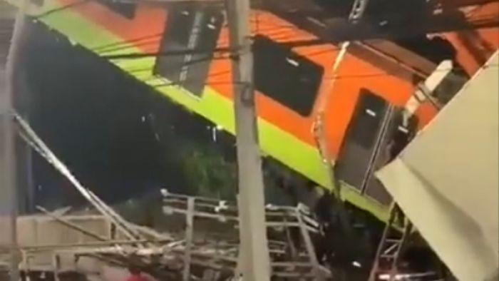 Число жертв при обрушении метромоста в Мехико выросло до 15 человек - видео