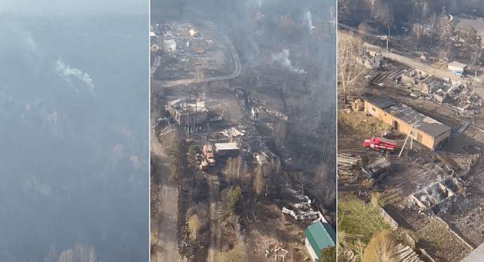 Почти 300 га составила площадь лесного пожара в ВКО, огонь в посёлке ликвидирован