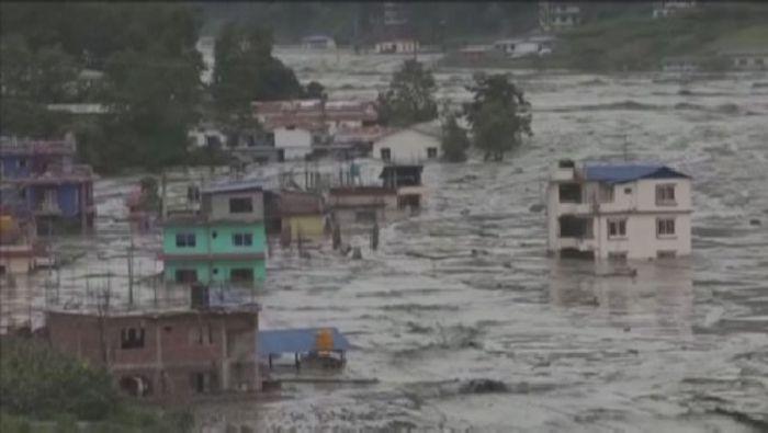 Муссонные дожди вызвали наводнения в Непале