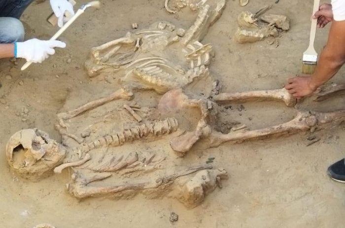 В Кызылкогинском районе найдены останки трёх воинов-сарматов