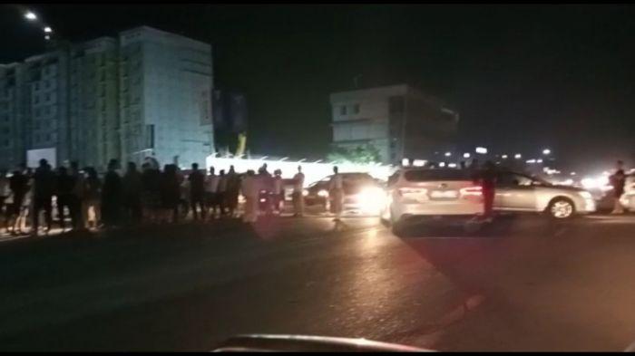 Возмущённые жители перекрыли Талгарскую трассу из-за отсутствия воды