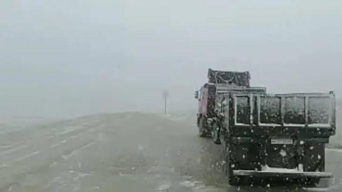 Июльский снег в российском регионе сняли на видео
