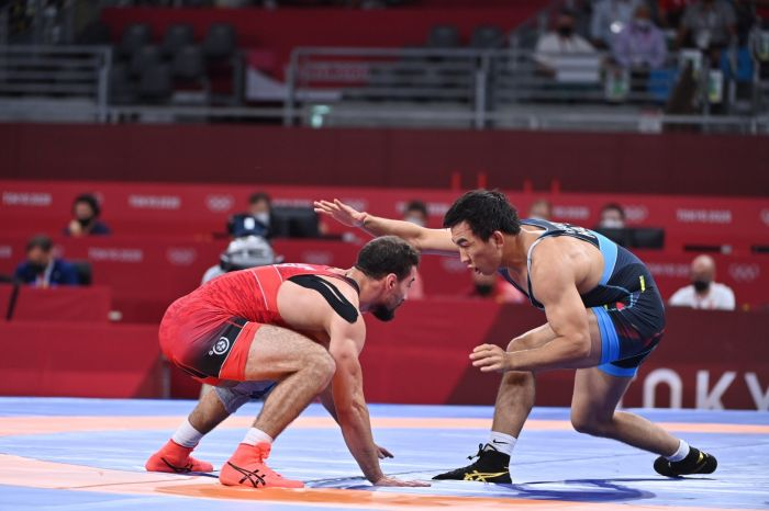 Данияр Кайсанов вышел в полуфинал Олимпийского турнира в Токио