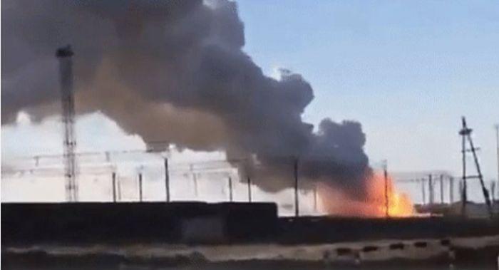 Вагоны с фосфором загорелись в Арыси: жителей близлежащего района эвакуируют