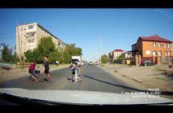 Пешеход с коляской